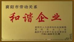 襄阳市劳动关系和谐企业